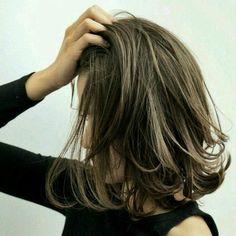 Pin on ヘアースタイル Medium Hair Styles, Curly Hair Styles, Hair Arrange, Asian Hair, Hair Images, Great Hair, Hair Highlights, Hair Dos, Pretty Hairstyles