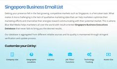 Blue Mail Media helps marketers all over the world with result-oriented Singapore Business Executives Database that never fails to bring you the desired results. You can send an enquiry at sales@bluemailmedia.com and Contact us now at 1-888-494-0588.You can also visit the https://www.bluemailmedia.com/singapore-business-executives-lists.php