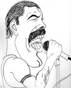 CARICATURAS DELBOY: FREDY MERCURI