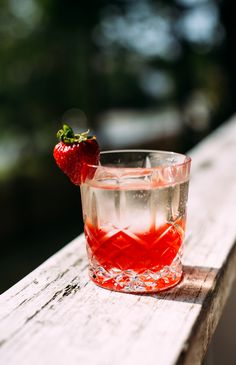 Strawberry, Basil + Pink Peppercorn Negroni | I tweaked the original version a bit by subbing prosecco for the gin for a lighter, more bubbly experience and added muddled strawberries and basil syrup because we're celebrating summer here! @earthyfeast