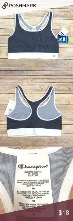 Champion medium support racer back bra Gray mesh overlay racer back medium support bra. Champion Intimates & Sleepwear Bras