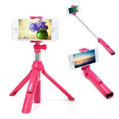 4in1 Wireless Bluetooth 4.0 Remote Shutter+Handheld Cellphone Selfie Stick Monopod+Tripod+Holder for IOS Android Smart Phone