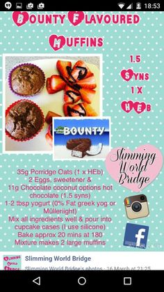 Bounty muffins! Credit to slimming world bridge on facebook