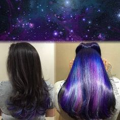 Secret Galaxy | 17 Secretly Bold Hair Colors You Can Actually Wear To Work: