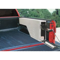 Tradesman Aluminum Wheel Well Gun Truck Box — Diamond Plate, 60in.L x 8in.W x 20 3/4in.H, Model # TALFWGB60
