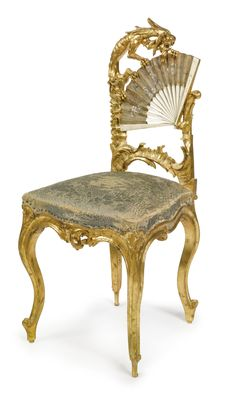 A FANTASY FRENCH CHINOISERIE CARVED GILTWOOD, BONE AND PAINTED SILK CHAIR<br>France, late 19th/early 20th century | Lot | Sotheby's