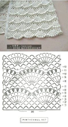 Best Free of Charge Crochet scarf diagram Suggestions 67 trendy crochet baby wrap blanket knitting patterns Hexagon Crochet Pattern, Crochet Scarf Diagram, Crochet Lace Scarf, Crochet Stitches Patterns, Crochet Chart, Baby Knitting Patterns, Knitting Stitches, Crochet Baby, Free Crochet