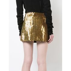Marc Jacobs sequin mini skirt (114960 RSD) ❤ liked on Polyvore featuring skirts and mini skirts
