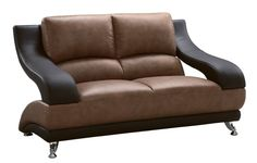 Shop a great selection of Global Furniture Wyatt Collection Leather Matching Love Seat, Brown Dark Brown. Find new offer and Similar products for Global Furniture Wyatt Collection Leather Matching Love Seat, Brown Dark Brown. Dark Brown Furniture, Leather Furniture, Furniture Sale, Furniture Collection, Living Room Furniture, Leather Loveseat, Leather Lounge, Loveseats For Small Spaces, Classic Sofa