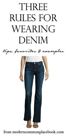 """I grew up in non-fun jeans. You know the kind - elastic waist, short hemlines. I never believed I could be """"that girl"""" in a pair of jeans (you know - her n"""