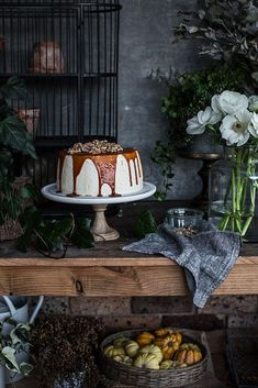 Winter Cake And Flora