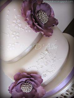 ROSE D' ALBA cake designer: Nozze d' argento per zia Angelina e zio Giovanni.