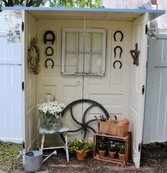 Great way to use old doors!