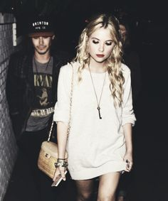 Ashley Benson and Tyler Blackburn what a freakingeffortless but perfect picture of them both #haleb