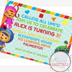 Team Umi Zoomi Birthday Party Invitation by AmandaAshleyParties, $12.00