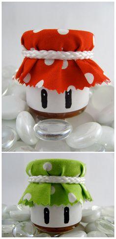 mushroom jam jars