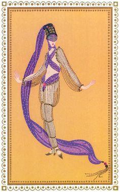 Sheerazade , a thousands and a second night Art Deco by Erte