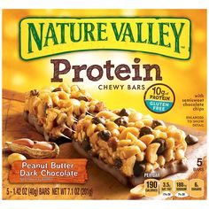 Nature Valley Peanut Butter Protein Bar, Peanut Butter Dark Chocolate, 5 Count *** Review more details here : Prime Pantry
