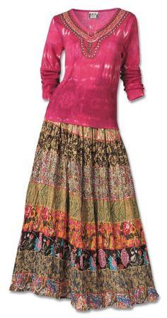 Sedona Desert Crinkle Skirt $39 Southwest Indian Foundation