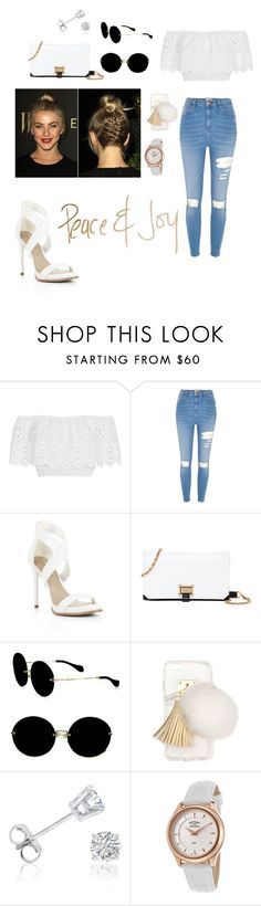 """Untitled #67"" by buki2000 ❤ liked on Polyvore featuring Miguelina, River Island, BCBGMAXAZRIA, Oscar de la Renta, Miu Miu, Ashlyn'd, Amanda Rose Collection and Rotary"