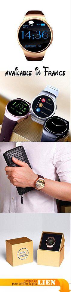 Smartwatch avec Bluetooth, Supporte Micro Carte SIM et rappel sédentaire/ Alarme, Calendrier Compatible avec Smartphone iPhone Android. Fonctionne comme un vrai téléphone indépendamment, SMS / IM, dialers, contacts, dialer Bluetooth, mémoire appels et messages, appels Bluetooth, calendrier, retardateur, était à distance.. Rappelez-vous moniteur de sommeil Sédentaire, podomètre, tracker sommeil vous permet de maintenir une vie saine à tout moment, en tout lieu..