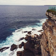 Whoever owns the home on this cliff has the best seat in #bondibeach (that lounge chair right at the corner!)