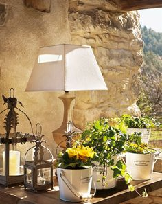 Rustic Cottage in Spain - Home Side Table Styling, Natural Homes, Rustic Cottage, Luxury Interior Design, Pretty Pastel, Rustic Charm, Home Decor Inspiration, Luxury Homes, Outdoor Living