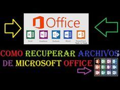 Como Recuperar archivos no guardados de PowerPoint, World, Excel, Publis...