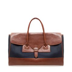 Image 1 of COMBINED CANVAS WEEKEND BAG from Zara