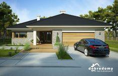 Nela IV - Dobre Domy Flak & Abramowicz Bungalow Style House, Stylish Kitchen, Outdoor Living, Outdoor Decor, Facade House, Modern Exterior, Modern House Design, Garden Planning, Home Fashion