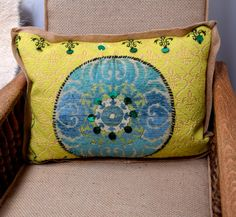 SOLD Boho Style Medallion pillow by JaniceMcCartyDesign on Etsy  Sold Out