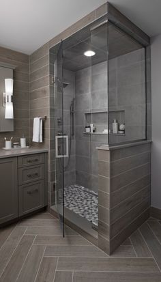 Xstyles bath plus Bathroom Design Luxury, Bathroom Layout, Modern Bathroom Design, Home Room Design, Shower Remodel, Bathroom Inspiration, Interior Inspiration, Small Full Bathroom, Master Bathroom
