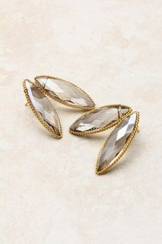 Swarovski Champagne Crystal Petal Earrings