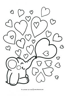 Heart Coloring Pages for Kids Simple Elephant and Heart Doodle Coloring Page for Shape Coloring Pages, Heart Coloring Pages, Animal Coloring Pages, Free Printable Coloring Pages, Coloring For Kids, Coloring Pages For Kids, Coloring Books, Coloring Sheets, Valentines Day Coloring Page