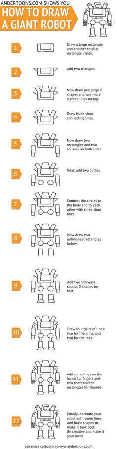 Comment dessiner un robot en 12 étapes