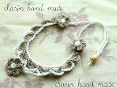 * Charin Hand made *ニット ネックレス / コットン / ホワイト