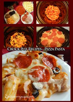 Crock Pot Recipes - Pizza Pasta - Food Recipes