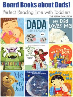 Board Books about Dads to Read with Your Child (Father's Day Study Unit Resources) | The Jenny Evolution