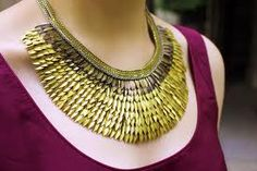 Modern day necklace inspired by Ancient Egyptian jewelry.