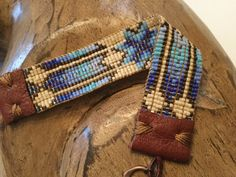Native American inspired. Blue star and feathers. Shades of