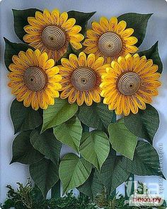 Paper Quilled  Sunflowers