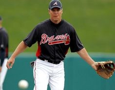 Chipper Jones the #10 ... and he is retiring @ the end of this yr :( .... so glad we got to see him play twice.    WOO-HOO!