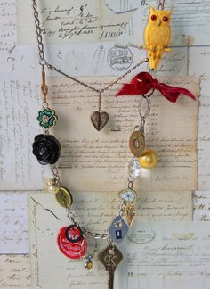 Junk necklace, you know all those things you can't bring yourself to throw away.