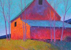 Peter Batchelder -ft x Abstract Landscape, Landscape Paintings, Abstract Art, Landscapes, Pastel Art, House Painting, Painting Techniques, Painting Inspiration, Home Art