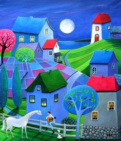 "Artist Iwona Lifsches; Painting, ""Lullaby for Esmeralda"""
