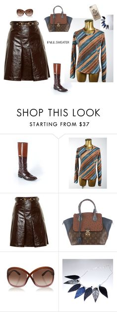 Wool Sweater by erica-waddell on Polyvore featuring Gucci, Burberry, Louis Vuitton, Casetify and Tom Ford