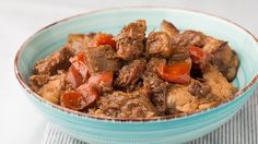 Tomatoes add fresh, tangy notes to this savory-salty dish. Serve with lots of steamed rice!