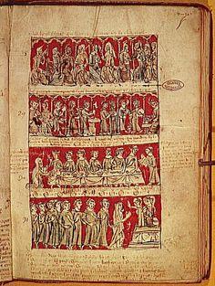 Livre des statuts du Collège de Hobant, 1387. 14th century, Bas Moyen Âge (Europe occidentale). Paris, musée de l'Histoire de France.