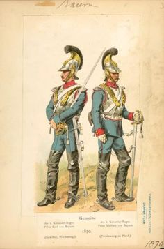 Bavarian cuirassiers, 1870