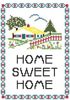 Cross Stitch Pattern PDF - Home Sweet Home Sampler